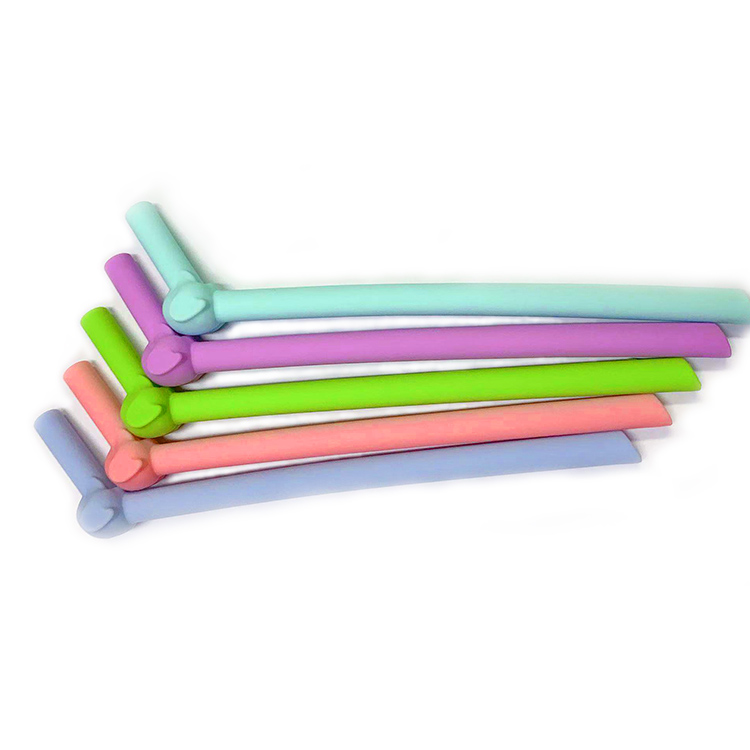 Cute Elephant Shape Reusable Food Grade Silicone Smoothie Straws