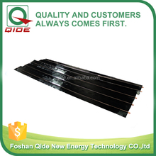 solar absorber finswith black chrome coating