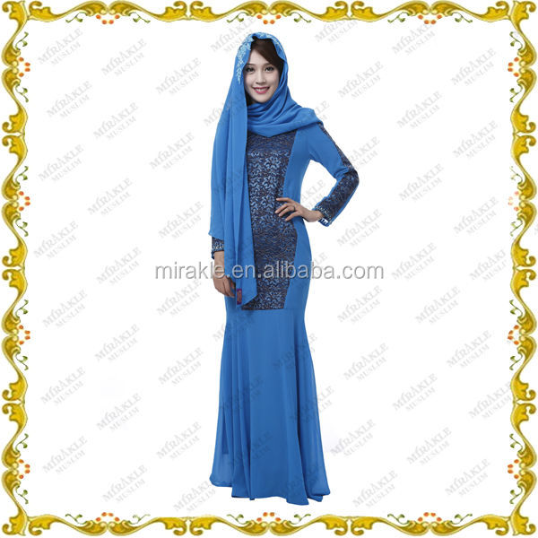 MF23591 new concept abaya with scarf for muslim women