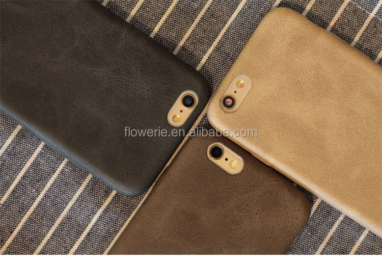 FL3724 Genuine Original PU Leather Soft Back Cover Case For Apple iPhone 5/6/6 Plus