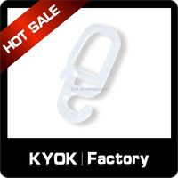 KYOK durable curtain rod connector, plastic curtain rod small hook, curtain rod fitting wholesale