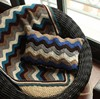 Wave decorative home decor outdoor chair handmade crochet coccyx seat cushion cover