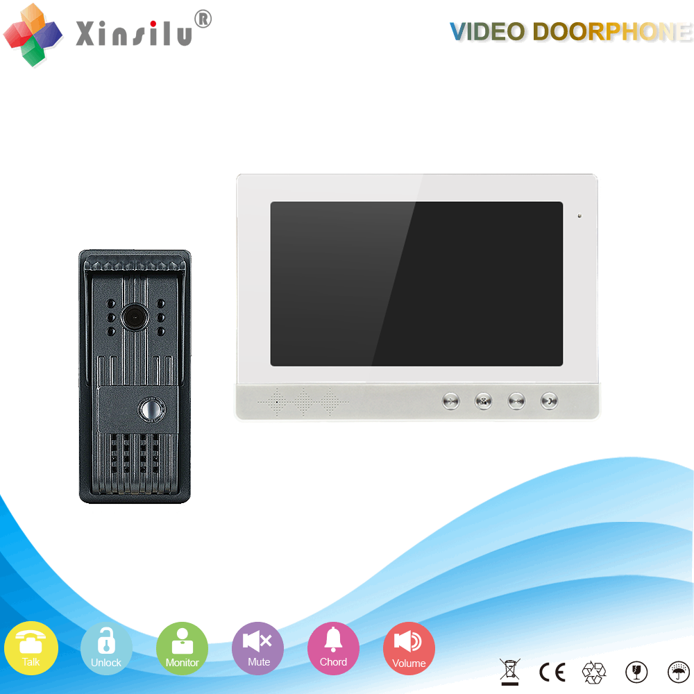10 inch TFT color wired digital video door phone system with one camera two monitor