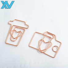 Good quality Promtional gifts customer logo special gold coffee cup paper clip gold