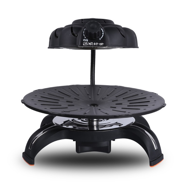 Rotary Charcoal Bbq Grill Ceramic Electric Countertop Stove Cooking Hot Plate