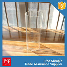 LXHY-FE015 Glass tube cylinder shape floor candle holder for wedding