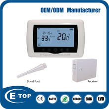 Eco friendly 7days or 5+1+1 programmable space heater thermostat for boiler