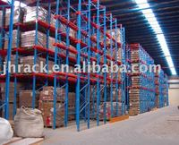 warehouse drive-in pallet storage racking system