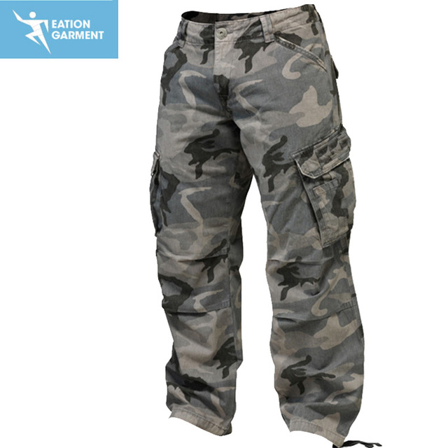 custom hottest baggy men work wear trousers twill camo pants