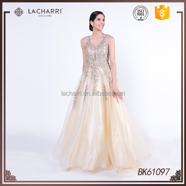 Wedding Embroidered Sleeveless Ball Gown Dresses for Pageant