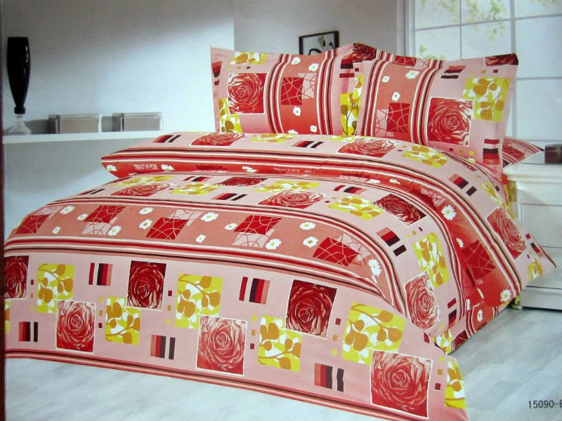 Polyester wool printed bed sheet fabric