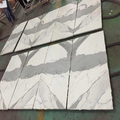 Bookmatch white marble tiles