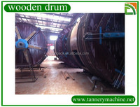 supply wooden drum tannery machine for cow goat sheep leather processing