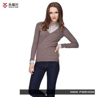 Hot selling new fashion viscose hand knit sweater designs for girls