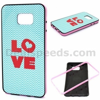 LOVE Pattern Detachable Anti-slip Design TPU+PC Bumper Hybrid Case for Samsung Galaxy Note 5