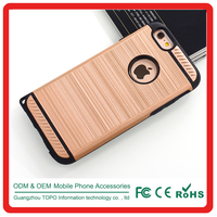 Golden Armour Strip pattern 2 in 1 PC TPU mobile phone cover case for iPhone 6 6s plus