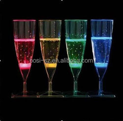 high power liquid active led champagne glass for party