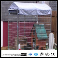 1.5x3.0x1.8m Outside large dog house steel structure dog runs