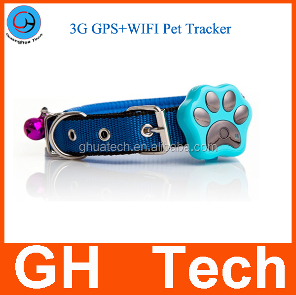 GH Newest 3G WCDMA GPS pets Tracker GT400 for dog cat real time gps tracker waterproof tracking