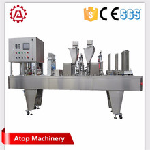 Rotary style Plastic Cup Coffee Capsule Filler and Sealer Coffee Capsule Filling Machine to Make Coffee Capsule