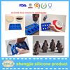 Alibaba hot selling silicone ice cube trays for party food grade MiNi robots chocolate molds