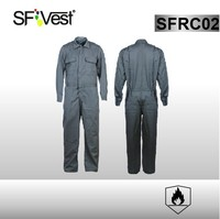 2015 new design flame resistant workwear fire retardant overalls