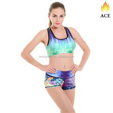Running Shorts ladies Fitness Sport Shorts Printed Women Short
