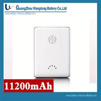 10000mah mobile power bank 11200mAh Double USB Mobile Phone Power Supply Power Pack A118, High Capacity