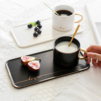 Tableware cup and saucer set ceramic coffee cups with dessert plate