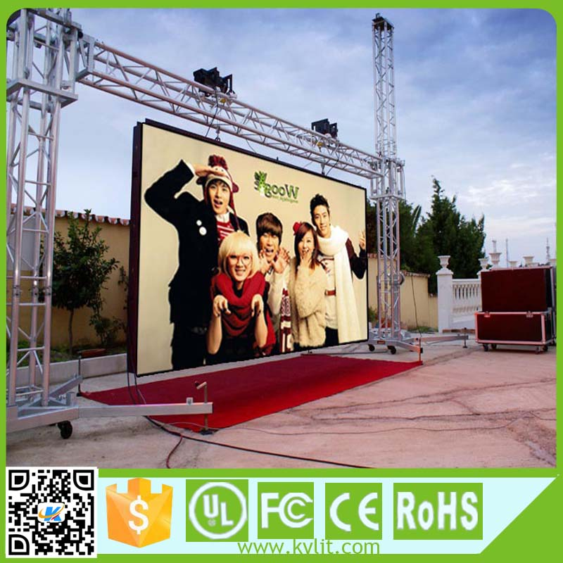 High stability good visual effect full color p10 outdoor stage background screen