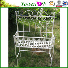 Hot Selling Fashion Vintage Antique White Wrough Iron Chair Shape Flower Pot For Garden Home Patio I23M TS05 X00 PL08-4911