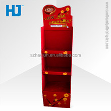 2015 newly top cardboard pallet display shelf with good quality for chocolate candy promotion