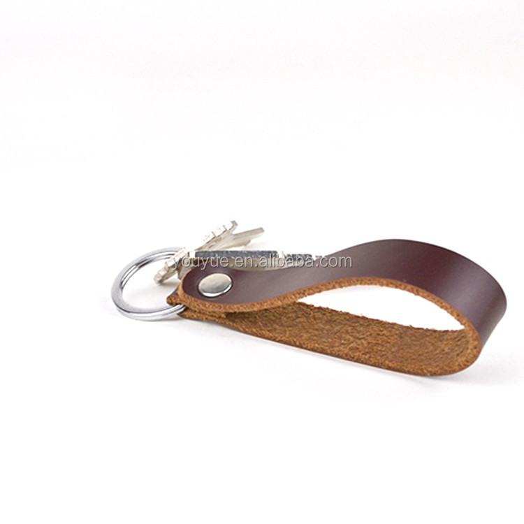 factory supply simple deisgn cow leather key ring