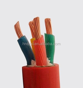 High temperature flexible cable with rubber insulated cable