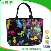 ISO/BSCI Reusable Korea handbag pp woven shopping bag gift bag for packing
