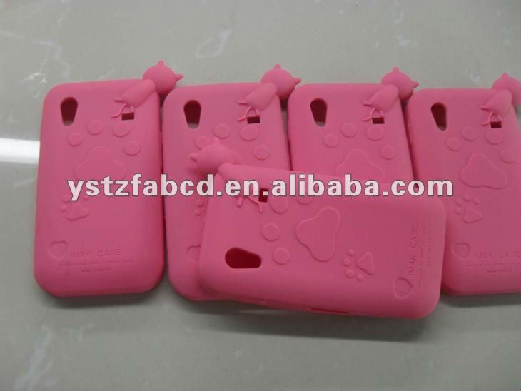 Pink Soft Silicone Mobile Case for Samsung Galaxy s2