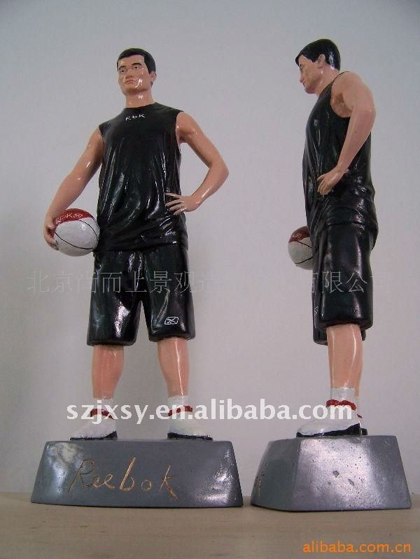 The NBA star Yao Ming resin figurines