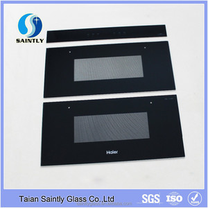 Colorful high temperature decorative tempered glass for kitchen cabinets with silkscreen printing