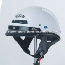 white scooter open face motorcycle helmet