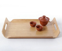 Bamboo Tray/Wood platter for food/cup serving tray