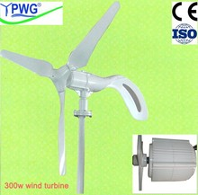 300w off grid/on grid wind power system wind turbiner system with tower ,contrpller ,and blades