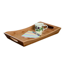 Wholesale Rectangle Bamboo Butler Serving Tray With Carrying Handles Design for the Home