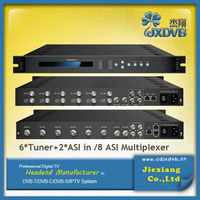 Cable TV 2 ASI+6 Tuner(8 ASI) Multiplexer Frequency Scrambler