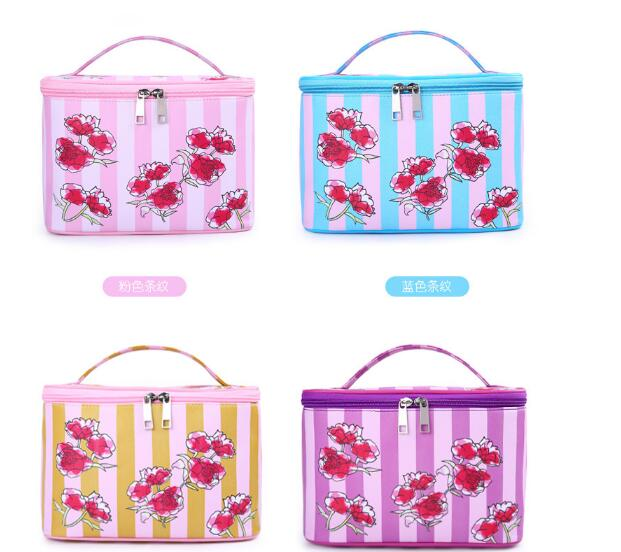 promotion gift toiletry cosmetic bag sets roll up brush cosmetic bag