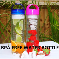 2016 Bulk items of customized private label fruit infuser water bottle100% Leakproof for sport,Gym,hiking,camping,cycling