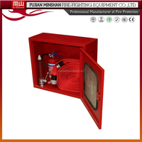 Fire cabinet with hose rack