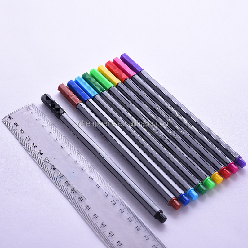 Wholesale fashion 0.4mm round body fine liner marker pen for school supply