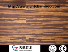 Wide Tiger Strand Woven Indoor Bamboo Flooring