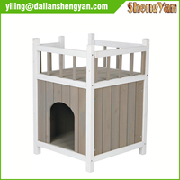 Hot sale custom wooden dog house with balcony