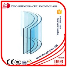 CE,ISO,CCC certificate curve glass for window thickness 4mm--19mm